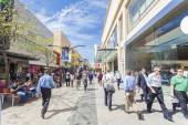 People walking along Rundle Mall in Adelaide, South Australia — Stock Photo