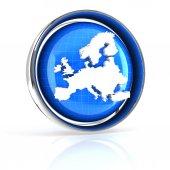 Europe icon — Stock Photo