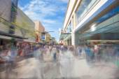 People walking along a shopping street in Adelaide, South Australia — Stock Photo