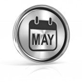 Metallic may calendar icon — Stock Photo