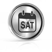 Saturday metallic icon — Stock Photo