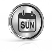 Sunday metallic icon — Stock Photo