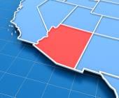 USA map with Arizona state — Stock Photo