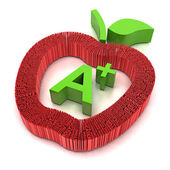 Education forming apple shape — Stock Photo