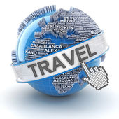 Global world travel — Stock Photo