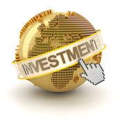 Conceito de investimento global — Fotografia Stock