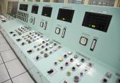 Control room of a water treatment plant — Stock Photo