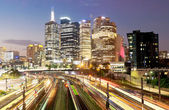 Railway in Melbourne at night — Stock Photo
