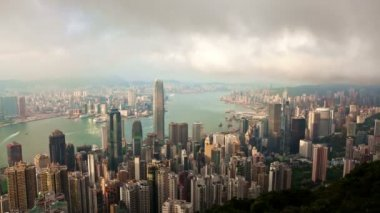 Timelapse video of Hong Kong from day to night — Video Stock