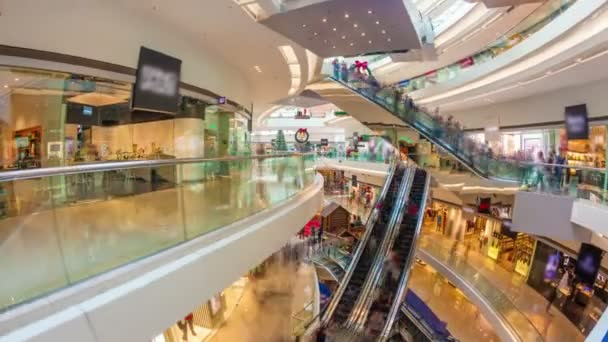 Video Hyperlapse de un concurrido centro comercial — Vídeo de stock