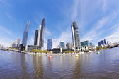 Fisheye view of Melbourne in the daytime — Stock Photo