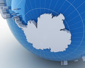 Globe with Antarctica, 3d render — Fotografia Stock