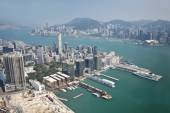 Aerial view of Hong Kong — Stock Photo