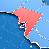3d render of South Australia map — Stock Photo