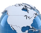 Globe, close-up on USA and Canada — Stock Photo