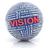 Business vision concept, 3d render — Stock Photo