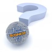 Business questions concept, 3d render — Stock Photo