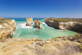 Rock stacks in the Twelve Apostles area — Stockfoto