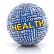Sphere with word related to health — Stock Photo #67392519