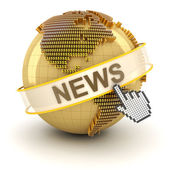 Finanical news concept, 3d render — Stock Photo
