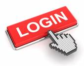 Clicking a login button — Stock Photo