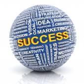 Business success concept, 3d render — Stock Photo