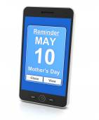 Generic mobile phone with reminder for 2015 Mothers day — Stock Photo