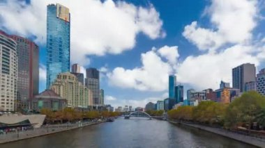 Hyperlapse, motion timelapse, video of downtown Melbourne, Australia — Stock Video