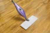 Using a steam mop — Stock Photo