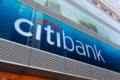 Citibank sign and logo in Mongkok, Hong Kong — Stock Photo