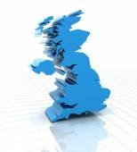 Extruded United Kingdom UK map — Foto de Stock