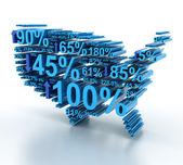 US statistics — Stock Photo