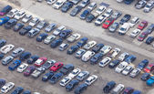 Aerial view of car park — Stock Photo