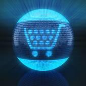 Shopping cart icon — Stock Photo