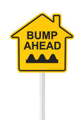 Bumpy real estate market ahead — Stock Photo