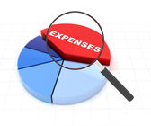 Anaylyse your expenses — Stock Photo