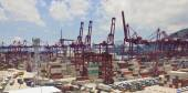 Kwai Tsing Container Terminals in Hong Kong — Fotografia Stock