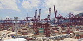 Kwai Tsing Container Terminal in Hong Kong — Foto Stock