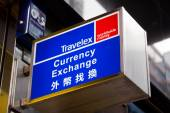 Sign of Travelex currency exchange — Stock Photo