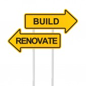 Build or renovate — Stock Photo