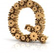 Alphabet Q formed by gears — Stock Photo #72428127
