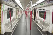 Empty subway train — Stockfoto
