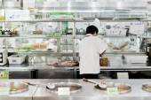Open chinese commercial kitchen in a restaurant — Stock Photo