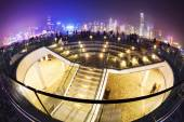 Hong Kong waterfront area at night — Stock Photo