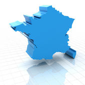 Extruded map of France — Stock Photo