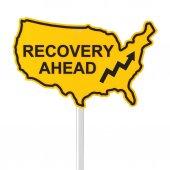 US economy recovery ahead — Stock Photo