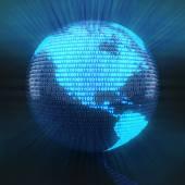 Digital globe with world map — Stock Photo