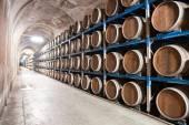 Underground wine cellar — Stock Photo