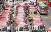Minibuses in Hong Kong — Stock Photo