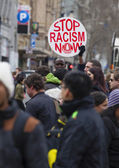 Protest against racism — Stock Photo
